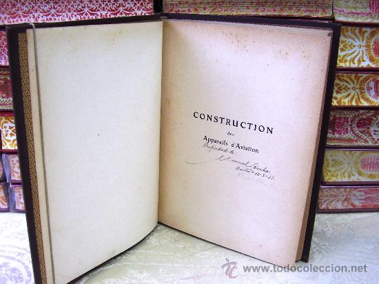 CONSTRUCTION DES APPAREILS D'AVIATION . CALCULS D'ÉTABLISSEMENT DES MACHINES VOLANTES EN GÉNERAL ... (Libros Antiguos, Raros y Curiosos - Ciencias, Manuales y Oficios - Otros)