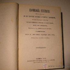 Libros antiguos: 1862CRONOLOGÍA UNIVERSAL SEGUIDA DE LA LISTA DE GRANDES ESTADOS ANTIGUOS Y MODERNOS,FERRER DEL RIO . Lote 33406984
