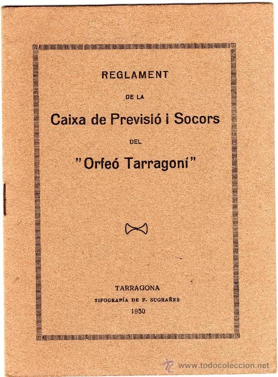 REGLAMENT DE LA CAIXA DE PREVISIÓ I SOCORS DEL