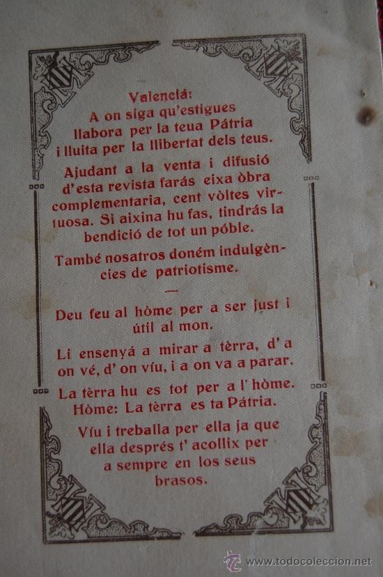Libros antiguos: ENERO 1931. ELS FURS DE VALENCIA Nº 4. PUBLICACIONS D´ARGIU VALENCIA. REVISTA HISTORICA QUINCENAL - Foto 3 - 33550008