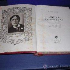 Libros antiguos: OSCAR WILDE - OBRAS - COMPLETAS M. AGUILAR EDT. MADRID 1943 PREFACIO ,TRADUCCION JULIO GOMEZ DE LA . Lote 33617490