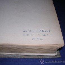 Libros antiguos: ESCULTURA - AUGUSTE RODIN , VICTOR FRISCH YJOSEPH T. SHIPLEY EDT. POSEIDON TAMPON DE ANGEL FERRANT . Lote 33642552