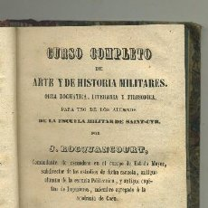 Libros antiguos: BIBLIOTECA MILITAR PORTATIL --CURSO COMPLETO DE HISTORIA Y ARTES MILITARES (TOMO QUINTO) (A-HM-791). Lote 33754385