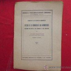 Libros antiguos: LIBRO EFECTOS DE LA RENUNCIA A LOS GANANCIALES JOSE CASTAN 1ª ED 1929 ED. REUS L-312/58. Lote 33765773