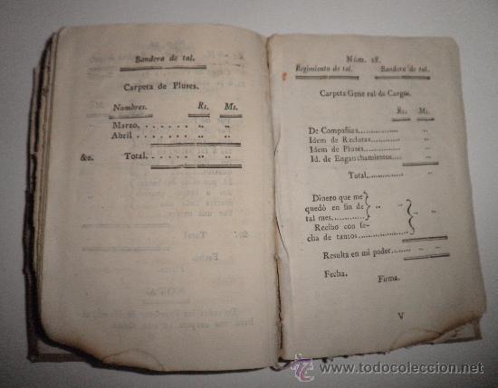 Libros antiguos: PRONTUARIO DEL CABO Y SARGENTO DE INFANTERIA DEL EXERCITO - AÑO 1813 - LAMINA GRABADA·PERGAMINO. - Foto 7 - 33768496