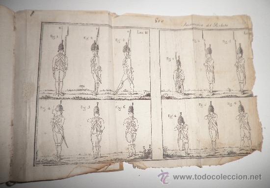 Libros antiguos: PRONTUARIO DEL CABO Y SARGENTO DE INFANTERIA DEL EXERCITO - AÑO 1813 - LAMINA GRABADA·PERGAMINO. - Foto 8 - 33768496
