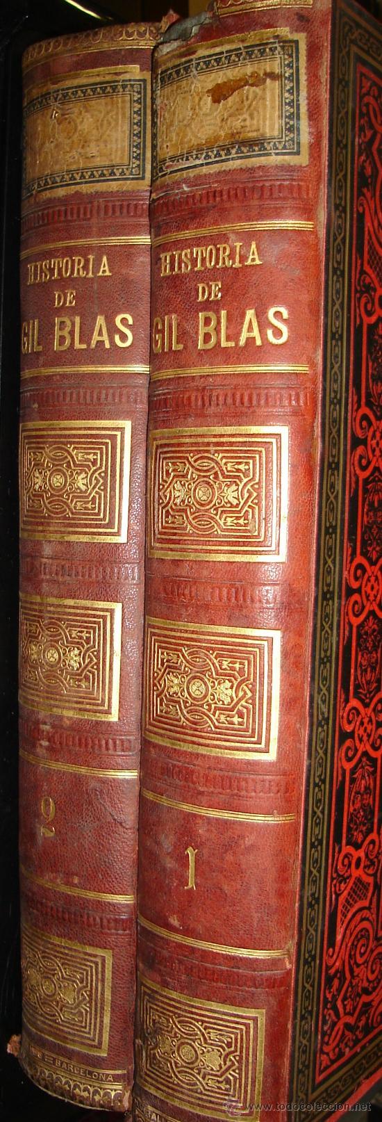 HISTORIA DE GIL BLAS DE SANTILLANA, LESAGE, TRAD.ADOLFO D CASTRO, 2TMS, BCN, ESPASA Y CÍA 1885 (Libros Antiguos, Raros y Curiosos - Historia - Otros)