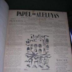 Libros antiguos: GENERACION DEL 27 REVISTA COMPLETA PAPEL DE ALELUYAS (ORIGINAL) HUELVA 1927- SEVILLA 1928 . Lote 33984991