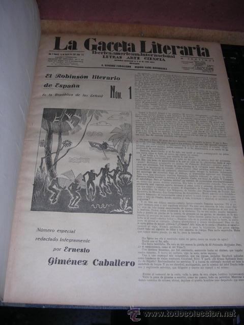 GENERACION DEL 27 REVISTA COMPLETA EL ROBINSON LITERARIO DE ESPAÑA (O LA REPUBLICA DE LAS LETRAS ) (Libros Antiguos, Raros y Curiosos - Literatura - Otros)