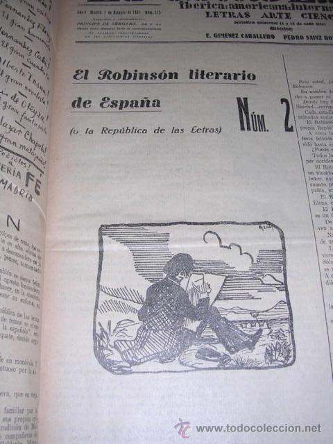 Libros antiguos: GENERACION DEL 27 REVISTA COMPLETA EL ROBINSON LITERARIO DE ESPAÑA (O LA REPUBLICA DE LAS LETRAS ) - Foto 8 - 33994062