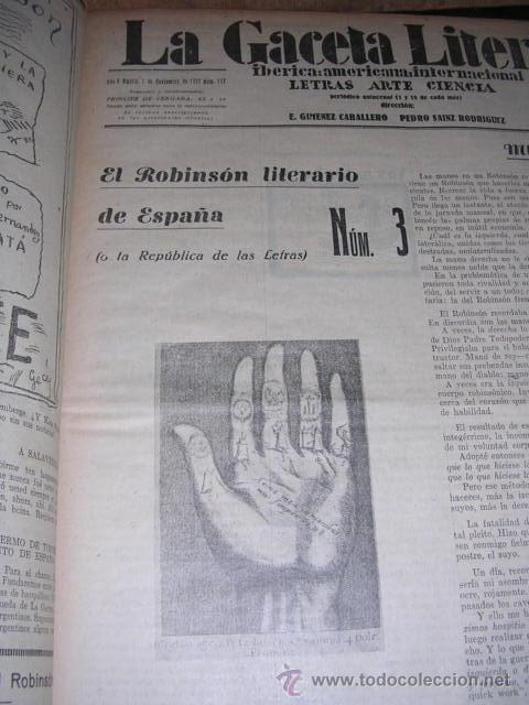 Libros antiguos: GENERACION DEL 27 REVISTA COMPLETA EL ROBINSON LITERARIO DE ESPAÑA (O LA REPUBLICA DE LAS LETRAS ) - Foto 9 - 33994062