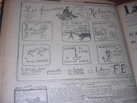 Libros antiguos: GENERACION DEL 27 REVISTA COMPLETA EL ROBINSON LITERARIO DE ESPAÑA (O LA REPUBLICA DE LAS LETRAS ) - Foto 10 - 33994062