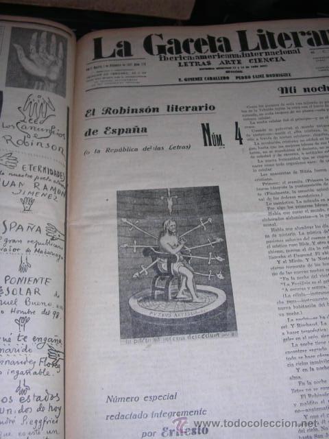 Libros antiguos: GENERACION DEL 27 REVISTA COMPLETA EL ROBINSON LITERARIO DE ESPAÑA (O LA REPUBLICA DE LAS LETRAS ) - Foto 13 - 33994062