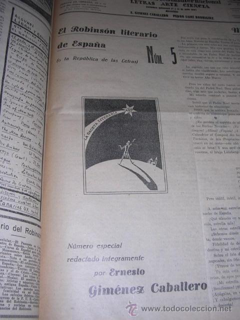 Libros antiguos: GENERACION DEL 27 REVISTA COMPLETA EL ROBINSON LITERARIO DE ESPAÑA (O LA REPUBLICA DE LAS LETRAS ) - Foto 16 - 33994062