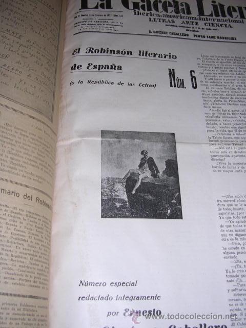 Libros antiguos: GENERACION DEL 27 REVISTA COMPLETA EL ROBINSON LITERARIO DE ESPAÑA (O LA REPUBLICA DE LAS LETRAS ) - Foto 19 - 33994062