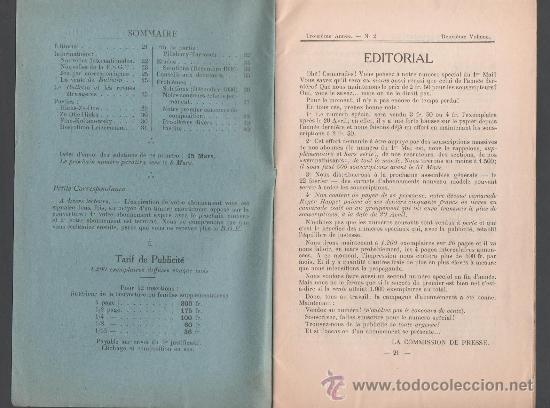 Libros antiguos: CX- AJEDREZ - Bulletin Ouvrier des Echecs - Edite par la F.S.G.T. - Nº 2 - Fevrier 1937 - Foto 2 - 34097672