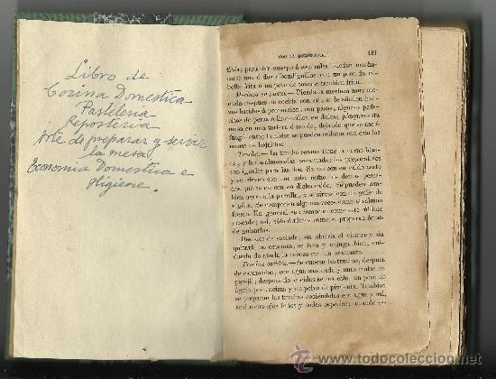 muy antiguo libro de cocina domestica pasteleri comprar