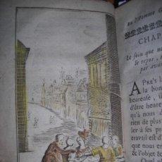 Libros antiguos: LA VIE HEUREUSE OU L`HOMME CONTENT....., 1711. CONTIENE 11 GRABADOS. Lote 34209673