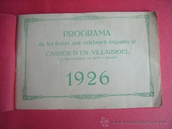 Libros antiguos: PROGRAMA FESTES D'ISTIU 1926.-VILLARROEL. - Foto 2 - 34266702