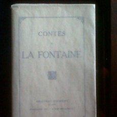 Libros antiguos: EN FRANCES, CONTES DE LAFONTAINE, FINALES S. XIX, . Lote 34292846