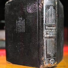 Libros antiguos: AGUILAR CRISOLIN. ANDANZAS Y VISIONES ESPAÑOLAS. UNAMUNO. Lote 27249778