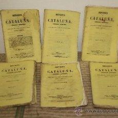 Libros antiguos: 1792- REVISTA DE CATALUÑA PERIODICO QUINCENAL VV.AA. SALVADOR MANERO 1862. 2 TOMOS. Lote 34323058