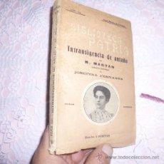 Libros antiguos: INTRANSIGENCIA DE ANTAÑO POR M.MARYAN. BIBLIOTECA PATRIA. B. Lote 34337766