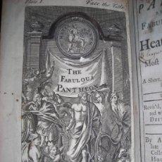 Libros antiguos: THE PANTHEON REPRESENTING..., ANDREW TOOKE, 1738. CONTIENE 1 FRONTISPICIO Y 26 GRABADOS.. Lote 34398093