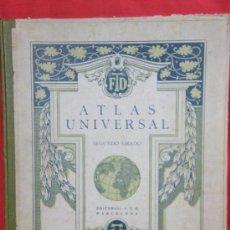 Libros antiguos: ATLAS UNIVERSAL 2º GRADO ED. FTD BARCELONA SIN FECHA. Lote 34427513