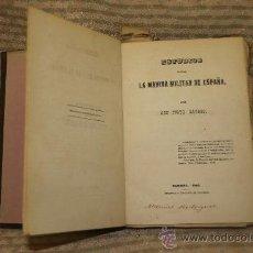 Libros antiguos: 1864- ESTUDIOS SOBRE LA MARINA MILITAR DE ESPAÑA. JUSTO GAYOSO. IMP TAXONERA. FERROL 1860. Lote 34438162