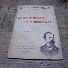 Libros antiguos: 1625.- DESENVOLVIMIENTO DE LA HUMANIDAD-CARLOS MALATO-EDITORIAL ATLANTE. Lote 34443609