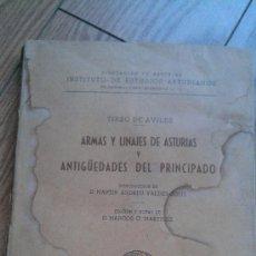 Libros antiguos: 1956. ARMAS Y LINAJES DE ASTURIAS Y ANTIGUEDADES DEL PRINCIPADO. TIRSO DE AVILES. Lote 34498674