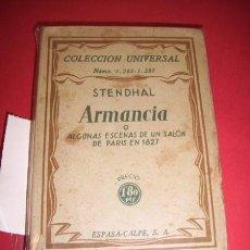 Libros antiguos: STENDHAL - ARMANCIA O ALGUNAS ESCENAS DE UN SALÓN DE PARÍS EN 1827. Lote 34647443