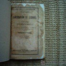 Libros antiguos: L. F. DUBIEF. TRATADO DE LA FABRICACIÓN DE LICORES DE TODAS CLASES SIN DESTILACIÓN. RARO EJEMPLAR.. Lote 34627089