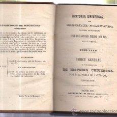 Libros antiguos: HISTORIA UNIVERSAL, CESAR CANTU, TOMO 34, MADRID, MELLADO 1850, , ORIGINAL. Lote 34638534