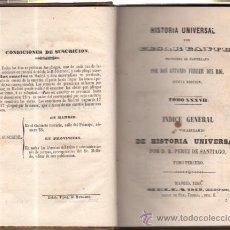 Libros antiguos: HISTORIA UNIVERSAL, CESAR CANTU, TOMO 37, MADRID, MELLADO 1850, , ORIGINAL. Lote 34638551