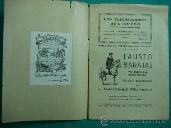 Libros antiguos: Los triunfadores del Ruedo nº 9 - Foto 2 - 34677185