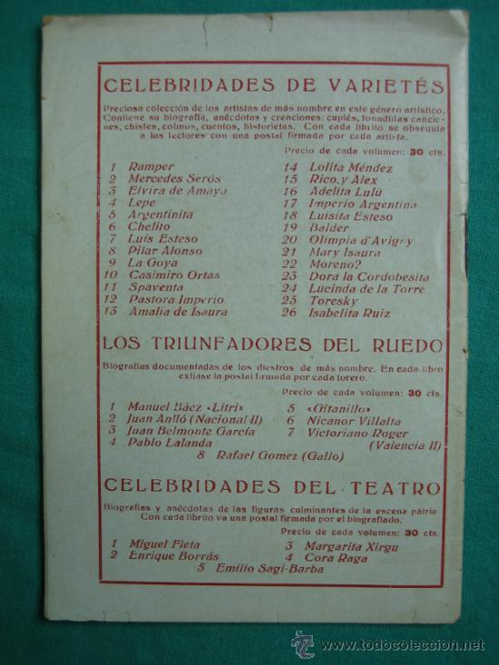 Libros antiguos: Los triunfadores del Ruedo nº 9 - Foto 3 - 34677185