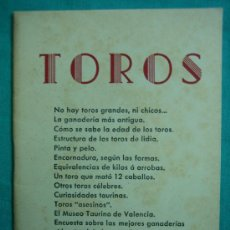 Libros antiguos: TOROS CURIOSIDADES TAURINAS. Lote 34677211