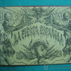 Libros antiguos: LIBRO DE 20 LAMINAS TAURINAS LA FIESTA ESPAÑOLA. Lote 34693412