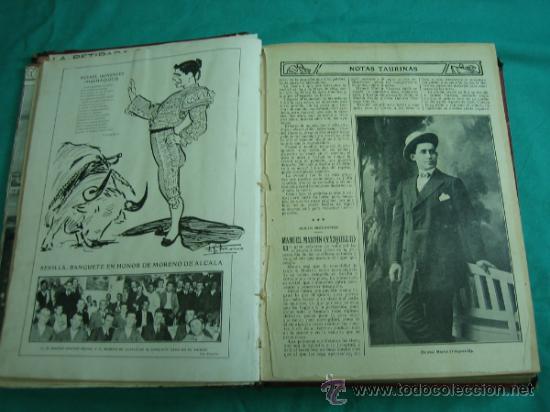 Libros antiguos: Libro encuadernado de la revista taurina LOS TOROS 1909 - Foto 7 - 34737505