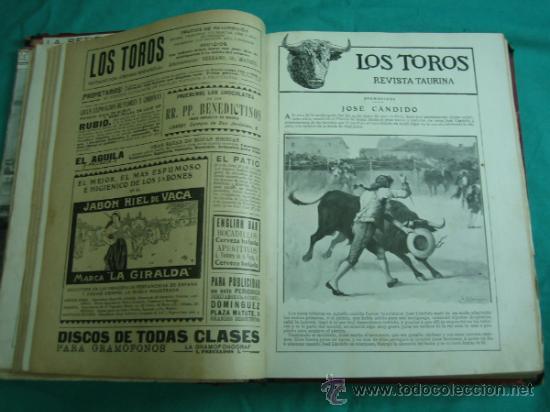 Libros antiguos: Libro encuadernado de la revista taurina LOS TOROS 1909 - Foto 8 - 34737505