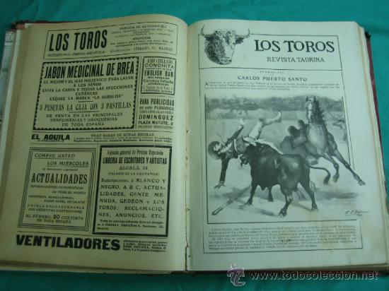 Libros antiguos: Libro encuadernado de la revista taurina LOS TOROS 1909 - Foto 9 - 34737505