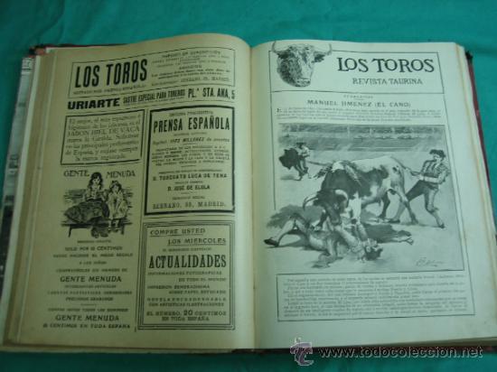Libros antiguos: Libro encuadernado de la revista taurina LOS TOROS 1909 - Foto 10 - 34737505