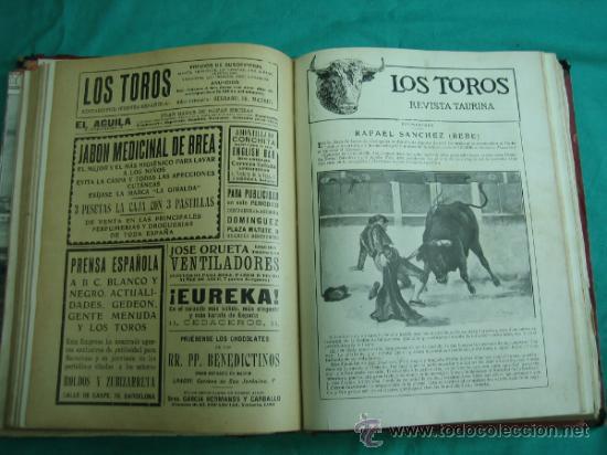 Libros antiguos: Libro encuadernado de la revista taurina LOS TOROS 1909 - Foto 11 - 34737505