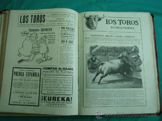 Libros antiguos: Libro encuadernado de la revista taurina LOS TOROS 1909 - Foto 12 - 34737505