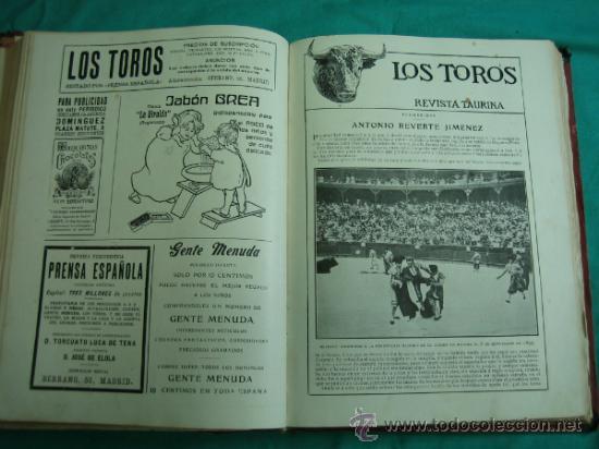 Libros antiguos: Libro encuadernado de la revista taurina LOS TOROS 1909 - Foto 13 - 34737505