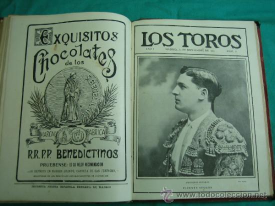 Libros antiguos: Libro encuadernado de la revista taurina LOS TOROS 1909 - Foto 14 - 34737505