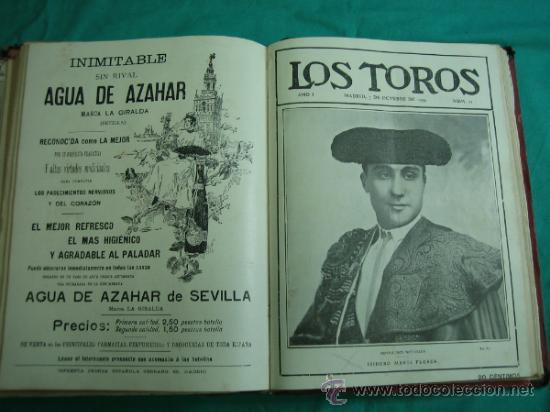 Libros antiguos: Libro encuadernado de la revista taurina LOS TOROS 1909 - Foto 15 - 34737505