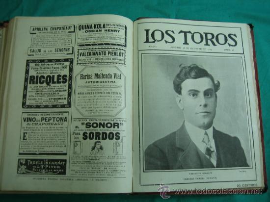 Libros antiguos: Libro encuadernado de la revista taurina LOS TOROS 1909 - Foto 16 - 34737505
